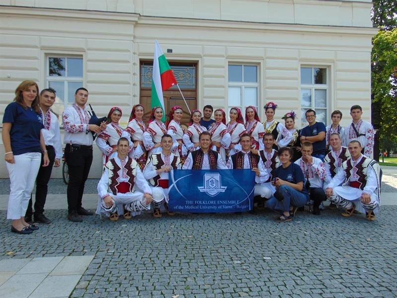 Students from MU-Varna Presented Bulgaria at an International Folklore Festival