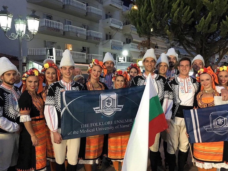 Brilliant Performance and Special Awards for the Folk-Dance Ensemble of MU-Varna at the Festival in Paralia Katerini, Greece