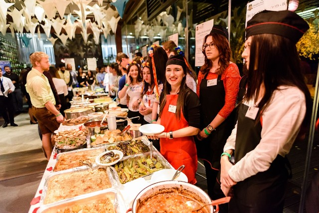 "Culinary Masterpieces from 10 Nationalities Were Presented at the International Culinary Evening ""A Healthy Food for a Wealthy Mood"""